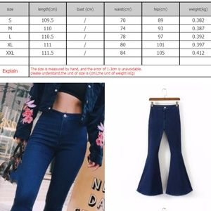 Barrykeny Jeans - Slim sexy high waist Big bell bottom Jeans (23A7)